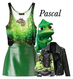 """Pascal"" by cartoongirl ❤ liked on Polyvore featuring Disney, Courrèges and Abbey Dawn"