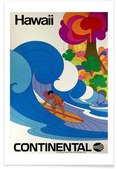 hawaii4 en Affiche premium par Robert Livingston | JUNIQE