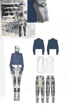 Fashion Sketchbook - fashion design drawings & textiles swatches; fashion portfolio layout // Amy Dee: