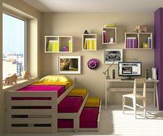 Cama 3 pisos + Cama nido #casasecologicasmadera
