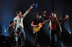 Taj Jackson, Taryll Jackson and TJ Jackson (3T)  and Tito Jackson perform at Forever Michael Tribute Concert at Millennium Stadium in Cardiff, Wales (UK), October 8th, 2011.
