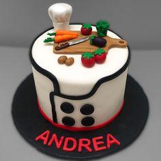 Dad Birthday Cakes, 3rd Birthday Parties, Chef Cake, Baker Cake, Cooking Cake, Fondant Cupcakes, Mini Cakes, Cookie, Birthdays