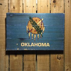 Oklahoma Flag on Wood  11x17  Oklahoma Wall Art  by OakhillRoad