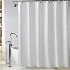 Buy Lamont Home™ Diamond Matelassé 72-Inch x 84-Inch Long Shower Curtain in White from  Bed Bath & Beyond
