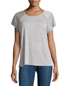 $53.  Raglan+Mesh-Trim+Jersey+Tee,+Gray+by+Vince+at+Neiman+Marcus+Last+Call.