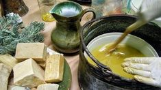 """Cretan olive oil & herbal soap: Make it your own! - Cretan olive oil soap: Make it yourself! """"Cold method"""" which is considered better than the """"hot meth - Olive Oil Soap, Natural Exfoliant, Herbal Oil, Homemade Facials, Beauty Recipe, Home Made Soap, Crete, Soap Making, Herbalism"""