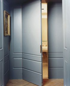 love all the woodwork painted grey