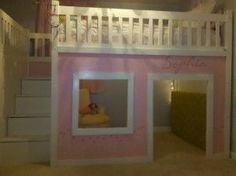 how to build a loft bed... k this is for a 7yr old, but that would be great for me too:)