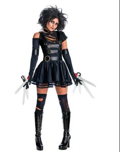 miss edward scissorhands costume | Sexy Edward Scissorhands Female Miss Scissorhands Costume