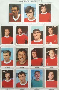Man Utd team stickers for 1967-68.
