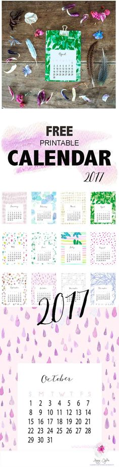 Free printable Calendar to keep you organized in 2017 – Magny Tjelta