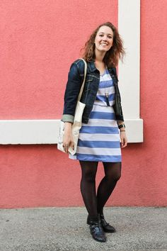 Nina's stripy Bettine! - Sewing pattern by Tilly and the Buttons