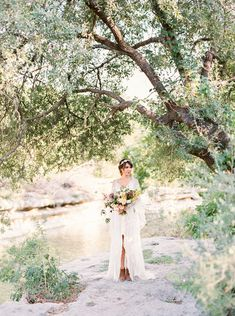 Edgy Free-Spirited Bridal Style in a Rue de Seine Gown | Wedding Sparrow | Jessica Gold Photography