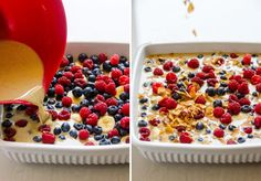 Berry Banana Steel Cut Oats and Quinoa Breakfast Bake is a delicious oatmeal alternative recipe that is high in protein and takes care of breakfast for a week.| ifoodreal.com