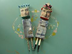 Artful Play: Wooden Art Dolls by Connie - Lover-Lees Art Doll Class with Laura Robberts at PaperWhimsy