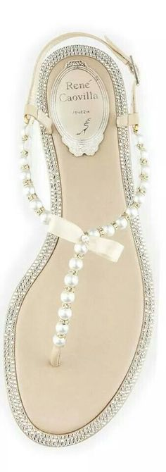 Pearl encrusted sandals