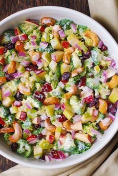 Broccoli, Cashew, Apple and Pear Salad