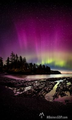 Fine Art — Melissa Baines Graphic Design and Photography Aurora dancing over Mill Bay Beach. Northern lights image by Melissa Photographer located in Mobile, AL