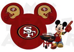 Printable DIY Mickey Mouse San Francisco 49ers by MyHeartHasEars, $5.00