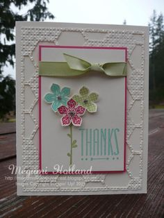 Stampin' Up! Petite Petals and Hexagon Hive Thinlits Card Flower Stamp, Flower Cards, Hexagon Cards, Hexagon Quilt, Hexagons, Stamping Up Cards, Thing 1, Get Well Cards, Copics