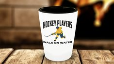 Hockey Players Walk On Water Ice Sports Lover Shot Glass