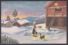 Lillo-Stenberg Merry Christmas And Happy New Year, Christmas Elf, Christmas Cards, Norwegian Christmas, Scandinavian Christmas, Vintage Postcards, Elves, Auction, Magic