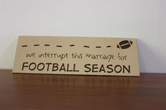 VInyl: We interupt this marriage for Football Season! @VinylExpressions