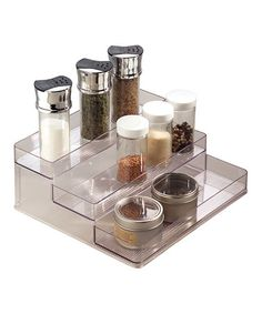 Another great find on #zulily! Clear Stadium Wide Spice Rack #zulilyfinds