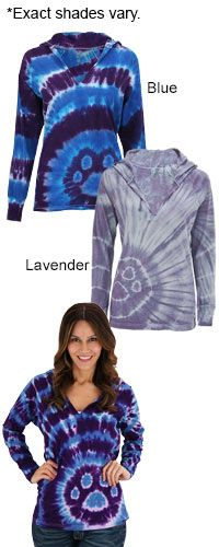 Tie Dye Purple Paw Hooded Tee at The Animal Rescue Site