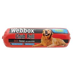 Webbox Chubs Beef dog food 12 x 800g Webbox Chubs offer significantly better value for money than most tinned food Packed for convenience in a plastic sleeve  Webbox Chubs can be stored at ambient temperature until opened and then refrigerated.