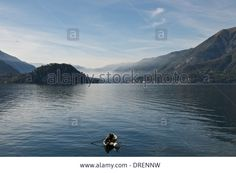 Fishermen,center Lake,varenna,lake Como, Italy Stock Photo, Picture And Royalty Free Image. Pic. 66092597