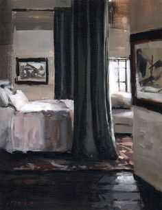 [CasaGiardino] ♡ David Lloyd - Artblog: White Linen with Bed Curtains