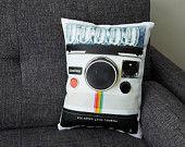 Vintage Lecia M6 Canvas Printed Camera Pillow. $65.00, via Etsy.