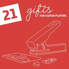 21 Clever Gifts for Guitar Players- including a tool to make your own guitar picks, a folding acoustic guitar and our favorite DIY guitar gifts.