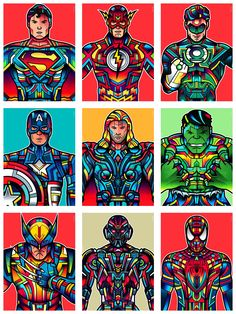 DC and Marvel Superheros and Villain (Ultron).