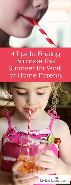 4 Tips to Finding Balance for Work at Home Parents. Help for working parents. Parenting tips for moms and dads. livinglocurto.com