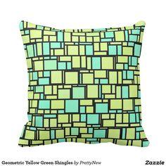 Geometric Yellow Green Shingles