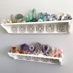 I color coded my rock collection ❤️ This is only a small part of it, I am totally running out of room! Thinking of selling some…