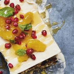 Orange Blossom, Honey and Baklava Semi-Freddo | Middle Eastern Dessert Walnut Kernels, Palestinian Food, Middle Eastern Desserts, Orange Blossom Honey, Greek Sweets, Yotam Ottolenghi, Homemade Cakes, No Bake Desserts, A Food