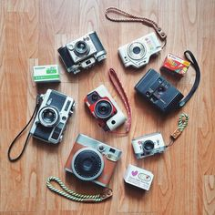 What's the collective noun for a group of compact cameras? I have no idea. But I do know this is a super fun and eclectic selection of cameras from @bitter__sweet__symphony. It's good not to take things too seriously sometimes. #cameracult #canon #demiee17 #canonmc #pentax #pentaxi10 #pentaxq10 #samoca #samoca35iii #fujifilm #instax #instaxmini90 #fujicolor #minox #compactcamera #vintagecamera #filmcamera #digitalcamera #agfa #agfavista #필름카메라 #cameraporn #shootfilm #filmisnotdead