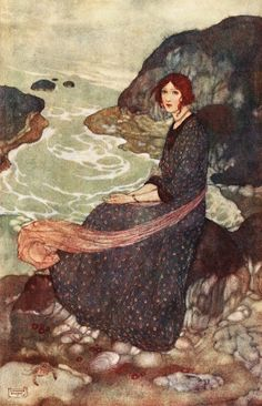 Prospero.- What seest thou else... Shakespeare's Comedy of 'The Tempest' (Act I, scene II) illustrated by Edmund Dulac (1908)