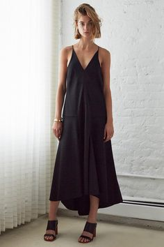 Ellery Resort 2015, black maxi dress, sandal heels