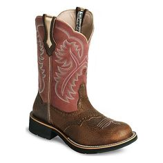 Lookin' for a pair of girly round toe cow girl boots! (: these are cute!