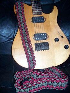 Stormdrane's Blog: Braided Paracord Guitar Strap
