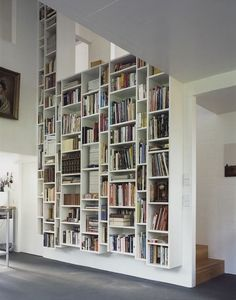 Love this Library - you can sneak bookshelves into the oddest spaces in your home