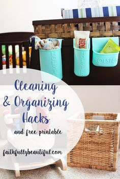 Cleaning & organizing our house, one Holster at a time, thanks to Holster Brands! Free Weekly Cleaning Printable for you as well! #Sp