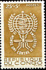 Francobolli . Lotta contro la malaria - Malaria on Stamps Congo 1962