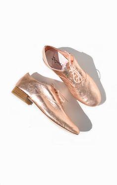 Anaïse | Repetto Zizi Oxford, Rose Gold Metallic