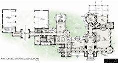 20,000 sf. House Plan - Lower Level