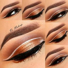 An incredible brown eye make-up. Published in our Douglas Beauty Community DE and created by: vemakeup